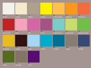 Colorazioni laccate per tavolo evolutivo