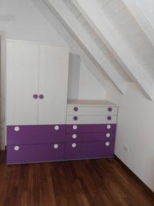 armadio in mansarda